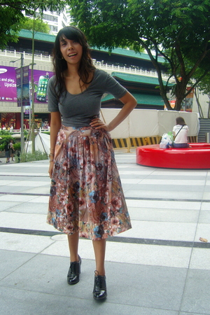 cotton on - Island Shop skirt - Charles & Keith shoes