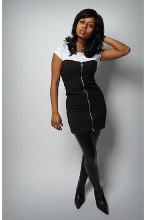 DIY dress - American Apparel leggings