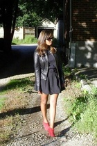 danier jacket - Gap t-shirt - self-made skirt - Beverly Feldman shoes