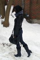Blondo boots - danier jacket - taverniti so jeans