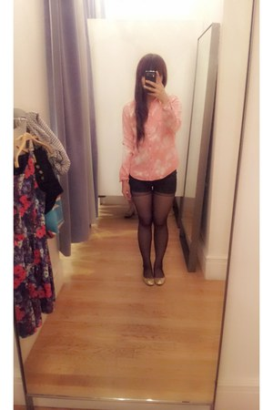 pink denim Forever 21 blouse