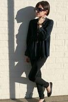skinny J Brand jeans - Karen Walker sunglasses - black lanvin flats - babydoll p