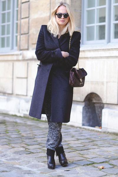mohair maison martin margiela coat - limited edition Chanel bag