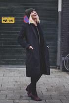 black mohair maison martin margiela coat - maroon leopard Pour le victoire boots