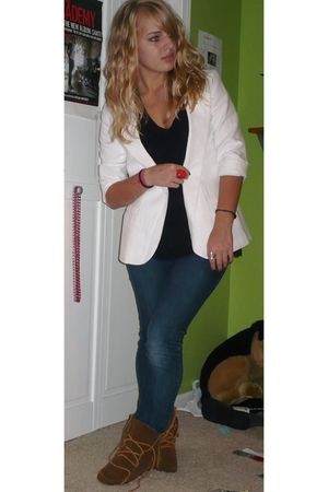 silence and noise blazer - forever 21 t-shirt - BDG jeans - Charlotte Russe acce