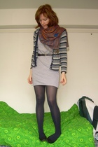 Portabello Market scarf - aa dress - Topshop Concessions sweater - Marks and Spe