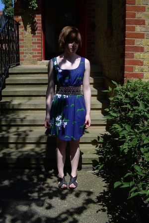 Topshop dress - asos belt - Office shoes