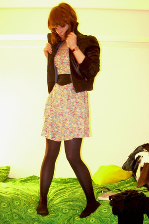 Ebay dress - Mums from the 80s belt - Topshop jacket - UO vest