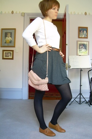 Gap top - aa skirt - Topshop shoes - Topshop purse