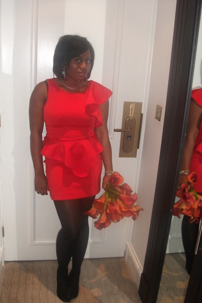 red River Island dress - black new look shoes
