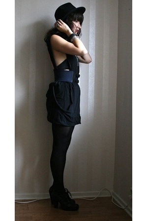 Cheap Monday dress - Filippa K belt -  hat - Din Sko shoes