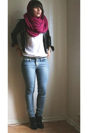jacket - JC t-shirt - MQ scarf - Crocker jeans