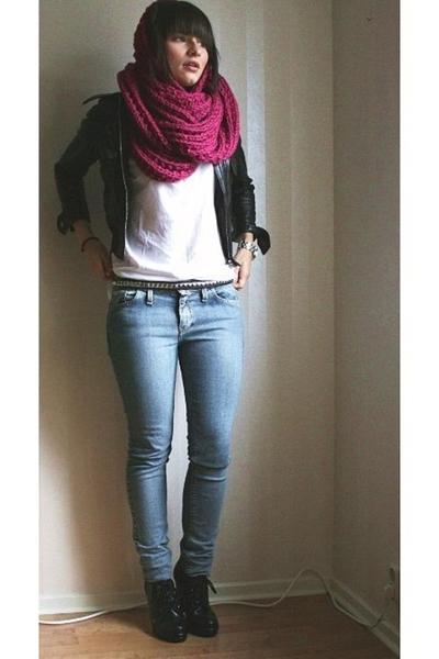 jacket - JC t-shirt - MQ scarf - Crocker jeans