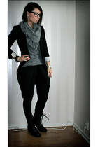 acne blazer - H&M sweater - vagabond shoes - Urban Outfitters glasses - Diana Or