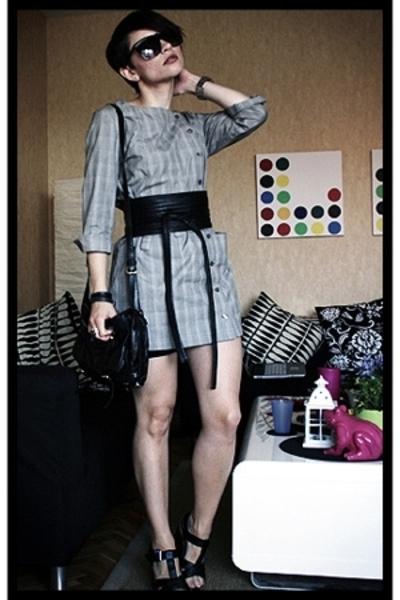 H&M Trend dress - Aridza Bross belt - hlns purse - asos shoes - American Apparel