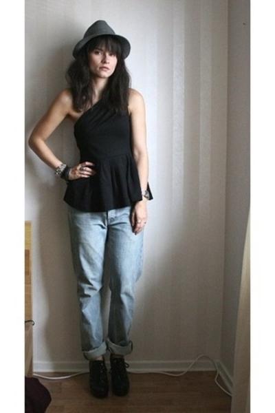 hlns hat - H&M top - Filippa K jeans - Din Sko shoes