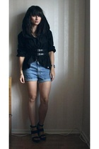 2707 shirt - Levis shorts - Filippa K belt - PROENZA SCHOULER shoes