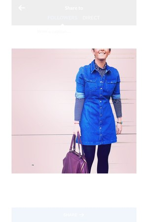 blue denim dress asos dress