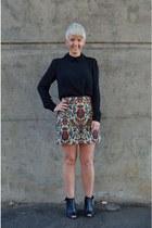 beige tapestry skirt Zara skirt