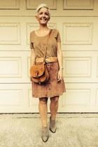 brown suede skirt Topshop skirt
