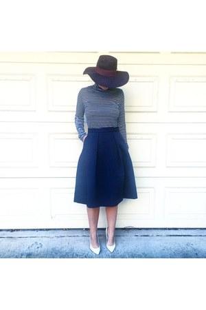 blue midi skirt Zara skirt