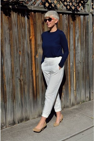 white peg pants asos pants