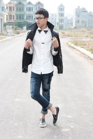 black studded Zara jacket
