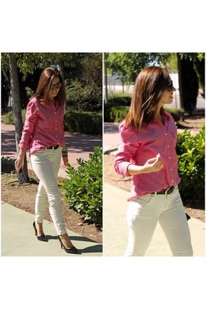 Tommy Hilfiger shirt - Pull & Bear jeans - Carolina Herrera bag - Zara heels