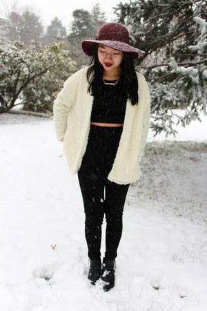 Forever 21 hat - H&M boots - Sheinside jacket