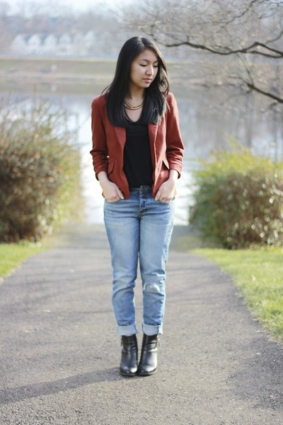 Forever 21 blazer - H&M boots - American Eagle jeans