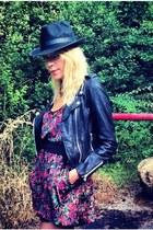 real leather Perfecto ZARA jacket - sam edelman boots - velvet free people dress