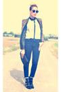 Leopard-print-nastygal-blazer-black-republik-boots-black-white-asos-shirt