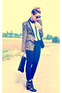 Black-republik-boots-leopard-print-nastygal-blazer-black-white-asos-shirt