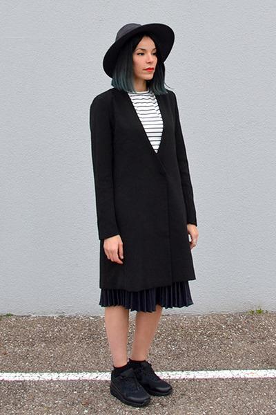 asos blazer - stripes style moi top - style moi skirt
