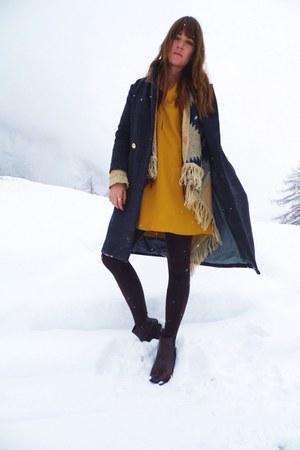 gold cotton Mango dress