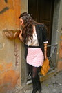 Black-lf-stores-blazer-eggshell-bcbg-top-bubble-gum-lf-stores-skirt