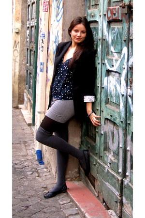 black LF blazer - gray American Apparel socks - heather gray H&M skirt