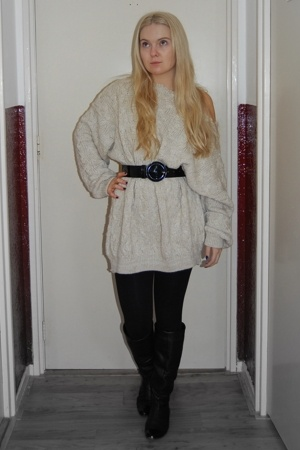 vintage sweater - Zara shoes