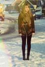 Black-velvet-new-look-leggings-camel-vitage-scarf-dark-gray-h-m-wedges