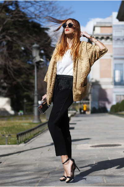 mustard Zara jacket - white Zara purse - black Zara sunglasses