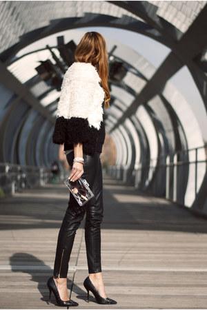 white Lefties coat - white Massimo Dutti shirt - white Zara bag