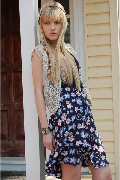 vintage vest - vintage skirt