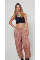 Vintage Paisley Print Harem Pants