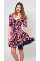 Vintage Floral Babydoll Mini Dress