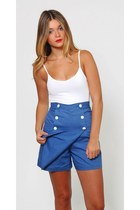 Vintage Blue Sailor Shorts