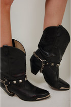 Studded Lotus Vintage Boots