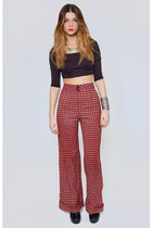 Vintage Bobbie Brooks Checker Trouser