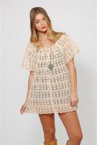 Vintage 60s Cream Crochet Top