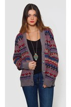 Vintage Oversized Tribal Cardigan