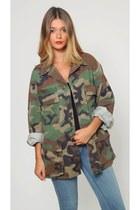 Vintage Camouflage Army Jacket